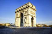 picture of charles de gaulle  - Arch of Triumph on the Charles De Gaulle square - JPG