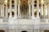Interior Of Library Congress In Washington Dc
