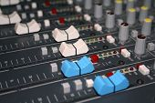 Mixing Board Faders