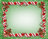 Christmas Cookies And Candy Frame Backgound