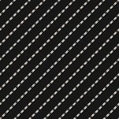 Vector Minimalist Geometric Seamless Pattern With Thin Diagonal Lines, Stripes, Edgy Shapes. Simple  poster