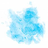 Colorful Abstract Background. Soft Blue Watercolor Stain. Watercolor Painting. Blue Watercolor Splas poster