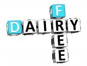 3D Dairy Free Crossword Cube Words