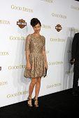 LOS ANGELES - FEB 14:  Thandi Newton arrives at the