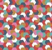 Seamless Geometric Arrow Pattern. Seamless Abstract Geometrical Background. Infinity Geometric Patte poster