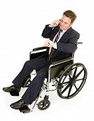 Disabled Businessman Running Late