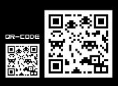 Fake QR-code with space creatures