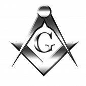 Silver Freemason Symbol