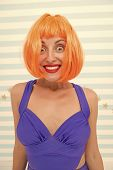 Wig Bright Artificial Hair Looks Unnatural. Hair Revival Procedure Advice. Cosmetics For Care And Re poster