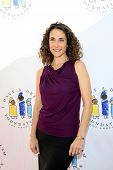LOS ANGELES - MAR 4:  Melina Kanakaredes arrives at the  Have A Dream Foundation's 14th Annual Dream