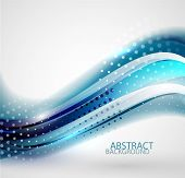 Vector glossy dotted wave abstract background