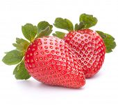 image of strawberry  - Strawberry isolated on white background cutout - JPG