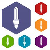 Light Bulb Energy Icon. Simple Illustration Of Light Bulb Energy Vector Icon For Web poster