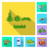 Vector Illustration Of Urban And Street Sign. Set Of Urban And Relaxation Stock Symbol For Web. poster