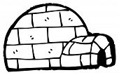 picture of igloo  - cartoon igloo - JPG