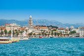 Waterfront City Skyline Of Split, Croatia, Adriatic Coast, Seascape poster