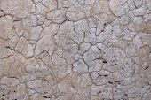 Cracked Concrete Old Wall Covered With Beige Cement Surface As Background. Textured Background Old C poster