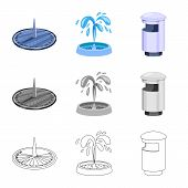 Vector Design Of Urban And Street Symbol. Collection Of Urban And Relaxation Vector Icon For Stock. poster