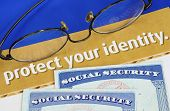 Protect personal identity concept of privacy theft
