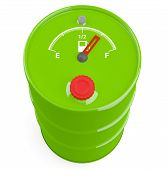 Fuel Gauge Icon On Barrel. 3D Model