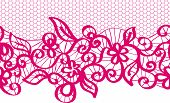 seamless vector red lace