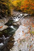 foto of fukushima  - Autumn colours of Nakatsugawa valley in Fukushima Japan - JPG