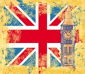 abstract grunge banner with London , vector illustration