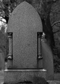 Blank Granite Tombstone