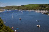 pic of dartmouth  - The River Dart between Dartmouth and Kingswear Devon England - JPG