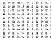 Flat Binary Code Screen