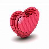 Orthogonal Heart Pixel Icon