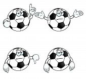Bored Cartoon Football Set
