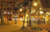 stock photo of early spring  - Pioneer square in Seattle at early spring night - JPG