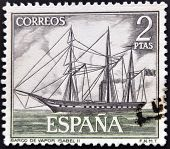 SPAIN - CIRCA 1964: A stamp printed in spain shows steamship Isabel II circa 1964