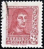 SPAIN - CIRCA 1960: A stamp printed in Spain shows Ferdinand the Catholic King of Aragon and Castile
