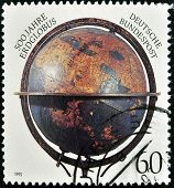 GERMANY - CIRCA 1992: A stamp printed in Germany dedicated to 500 years of terraqueous globe