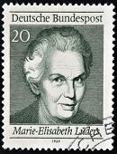 GERMANY - CIRCA 1969: A stamp printed in Germany shows Marie Elisabeth L�ders circa 1969