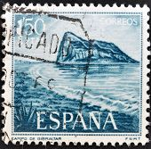 SPAIN - CIRCA 1969: A stamp printed in Spain shows Gibraltar circa 1969