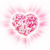 Pink ceramic heart