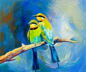 Blue Tailed Bee Eaters