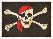 Grunge bandera de piratas