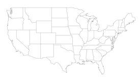 pic of usa map  - An outlined map of the United States of America - JPG