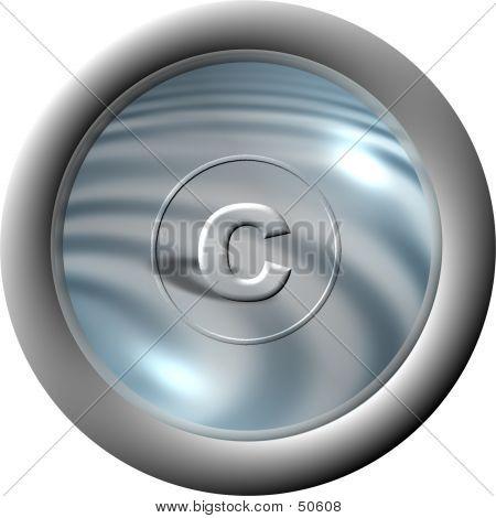 Aqua Copyright Button poster