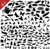 Set de siluetas de animales #5