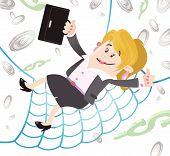 Businesswoman Buddy has a Financial Safety Net.