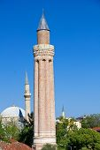 Turkey. The Old Downtown Of Antalya. Yivli Minaret