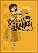 stock photo of 1950s style  - Give Thanks  - JPG