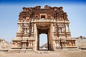 picture of vijayanagara  - Vijayanagara hindu temple and ruins Hampi India - JPG