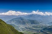 Machhapuchhre And Annapurna Mountains