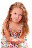 Beautiful Little Girl With Starfish